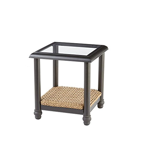 Home Decorators FWA60563ASW Camden Light Brown Wicker Outdoor Side Table