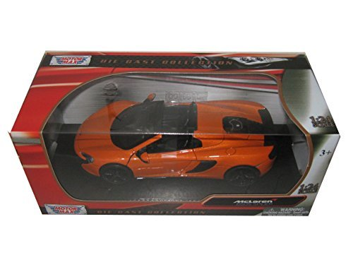 Showcasts Collectibles McLaren 650S Spider Convertible 1/24 Scale Diecast Model Car Orange ()