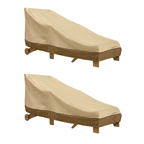 Classic accessories 78952 2pk veranda patio chaise lounge for Chaise lounge accessories