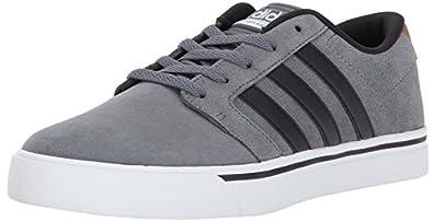 timeless design a98fb 8e7fd ... promo code for adidas neo mens cf super skate sneaker grey four black  timber 12 m
