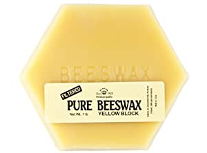 Stakich 10 lbs Pure Yellow BEESWAX Blocks (in 1-lb blocks) - Cosmetic Grade, Top Quality -