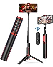Selfie Stick Tripod, Bluetooth Selfie Stick with Remote - Wireless Selfie Stick Tripod for Apple & Android Devices - Portable & Lightweight Home Travel Use Tripod Selfie Stick