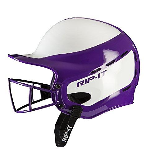 (RIP-IT Vision Pro Softball Helmet ft. Blackout Technology - Purple - Small/Medium)