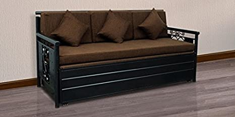 Royal Interiors Queen Size Metal Sofa Cum Bed With Hydraulic