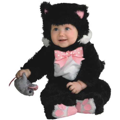 Rubie's Baby Inky Black Kitty Costume Jumpsuit, 0-6 Months, Multi-colored