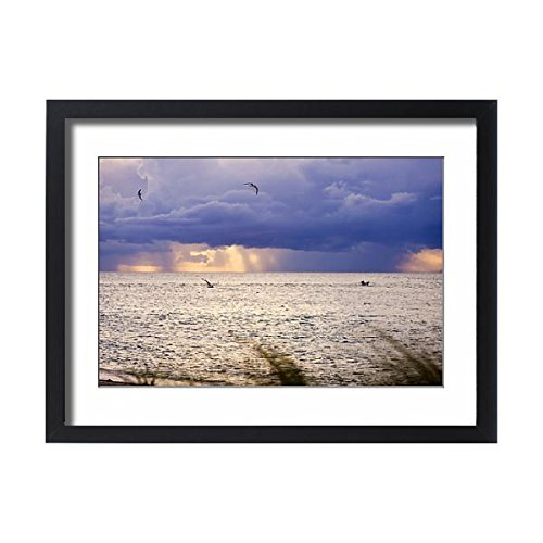 Framed 24x18 Print of Afternoon storms, Redfish pass, Captiva Island, FL (11172281) (Framed Redfish)