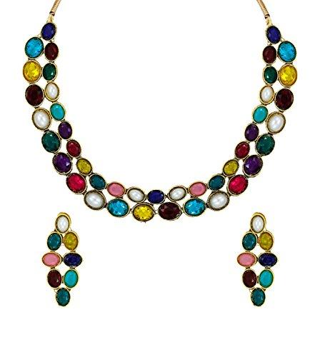 Zaveri Pearls Multicolor Sleek Ethnic Necklace Set for Women - ZPFK5983 (B06ZZGH9FC) Amazon Price History, Amazon Price Tracker