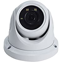 HD 2k 4MP IP66 Weatherproof, Waterpoof, Indoor Outdoor Onvif Compliant IP Network Infrared Nightvision IR Dome Security Camera for Day /Night, with wide angled 2.8mm Lens and US Based Tech Support