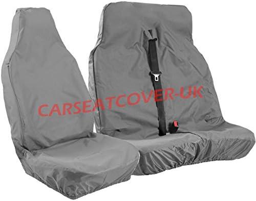 TO FIT A VAUXHALL VIVARO VAN SEAT COVERS LWB 154 FABRIC+GREY LEATHERETTE
