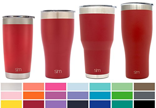 Simple Modern 32oz Slim Cruiser Tumbler - Vacuum Insulated Double-Walled 18/8 Stainless Steel Hydro Travel Mug - Coffee Cup Flask - Cherry Red