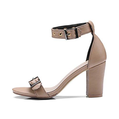 Donne Heeled I Sandali Sandali Dura Apricot Coreana High Color Shoes Tacchi Le Sono Versione fdTRxwqSSU