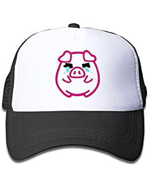 Cute Pig Baby Unisex Cool Adjustable Baseball Mesh Hat