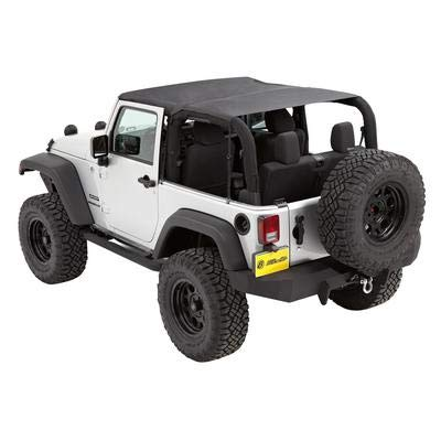 Bestop 52593-35 Bikini Black Diamond Safari Style Header Top for 2010-2018 Wrangler ()