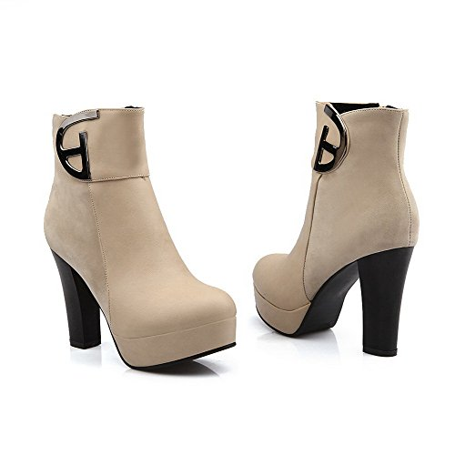 PU Heels Martin Boots BalaMasa Top Womens Low Solid Beige High 4wqcR4HYxF