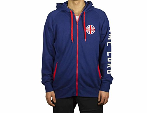 (Ripple Junction Doctor Who Time Lord Union Jack Adult Zip Hoodie XL)