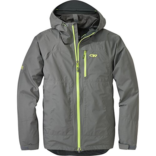 Outdoor Research Men's Foray Jacket, Small, Pewter/Lemongras