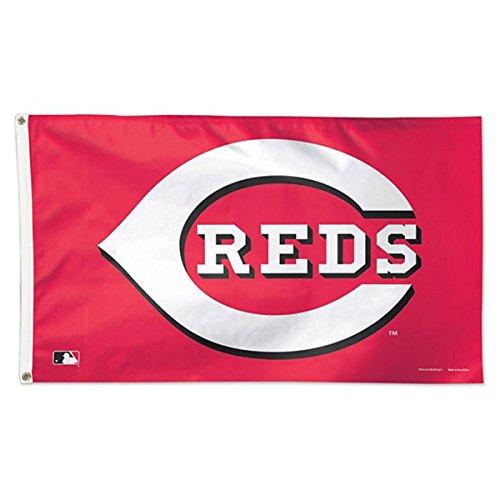 MLB Cincinnati Reds 01772115 Deluxe Flag, 3' x 5'
