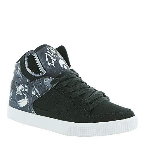 Osiris Clone Men's Skate 10.5 D(M) US Black-Grey-White (High Shoes Osiris Black Top)