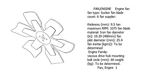 Engine fan 4931500 for diesel engine: