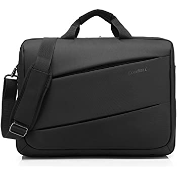 9956f4d15a42 CoolBELL 17.3 inch Laptop Messenger Bag Multi-Functional Briefcase  Multi-Compartment Handbag Include Shoulder Strap for MacBook Acer   HP Dell  ...