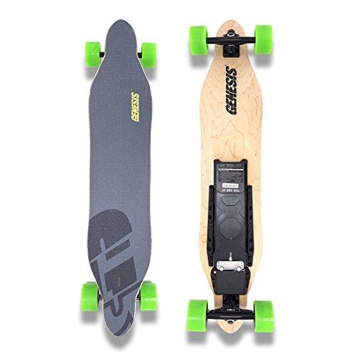 Genesis Tomahawk Electric Skateboard - Green Wheels