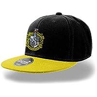 Official Harry Potter Hogwarts Hufflepuff Crest Snapback Cap Hat - One Size