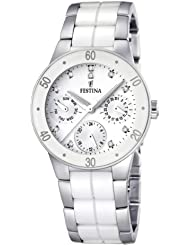 Festina Womens F16530/3 White Ceramic Quartz Watch with White Dial