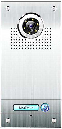AE Farb-Videotürsprechanlage 1 Familie, Außeneinheit, Edelstahlfrontplatte, 1 Klingeltaster, Unterputzmontage, silber, SAC562C-CK(N1)