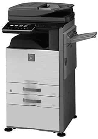 Refurbished Sharp MX-M465N Monochrome Multifunction Copier - A3/A4, 46ppm, Network Print/Scan, Duplex, USB, 2 Trays and Stand