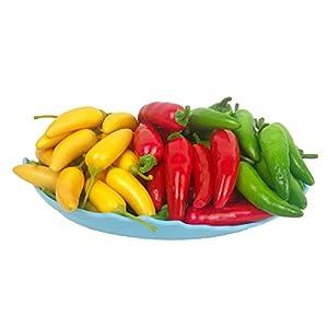 Lorigun Artificial Little Chili Simulation Pepper Mini Three-Colour (Red + Yellow + Green) Small Hot Pepper Lifelike Fake Vegetable Home Decor 2