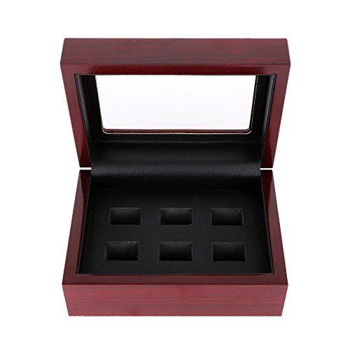Junning Championship Big Heavy Ring Display Wooden Box (6Holes) (Box Ring Championship)