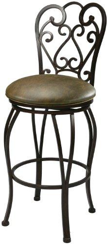 Impacterra Pastel Furniture MA-225-26-AR-649 Magnolia Swivel Barstool, 26-Inch, Autumn Rust and Florentine Coffee