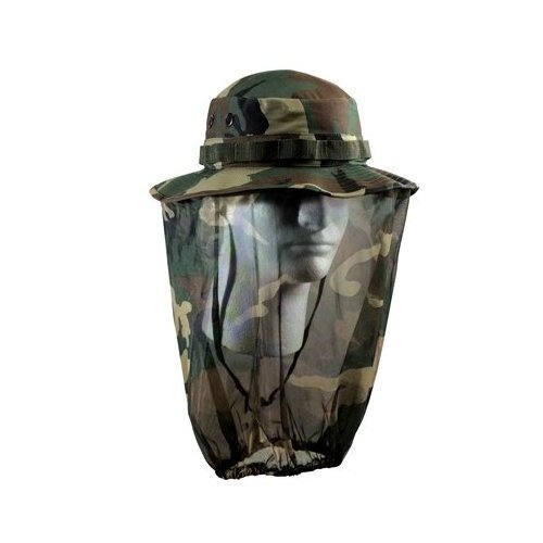 Ultra Force Camo Boonie Hat w/ Camo Mosquito Netting, Camo, - Ultra Camo Force