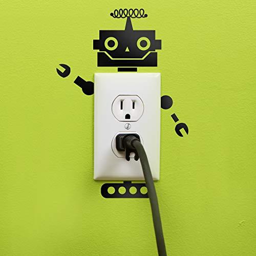 (Vinyl Wall Art Decal - Wired Antenna Robot - 8