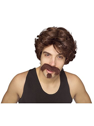 Big John Wig with Moustache & Goatee -