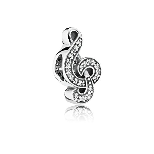(Authentic Pandora Sweet Music, Clear CZ .925 Silver Charm - 791381CZ - NEW)