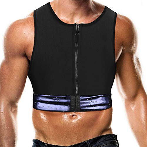 Men Waist Trainer Vest Weightloss Hot Polymer Corset Compression Sweat Body Shaper Slimming Sauna Tank Top Workout Shirt
