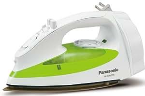 Panasonic NI-S300TR 1200-Watt Steam Iron with Curved Titanium-Coated Soleplate, White/Green