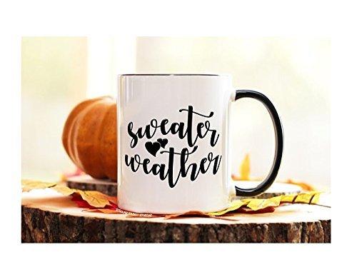 Sweater Weather Mug, Pumpkin Mug, Fall Mug, Pumpkin Latte, Pumpkin Spice and Everything Nice, Autumn Mug, Custom Coffee Mug, 11oz Spice Girls Christmas Card