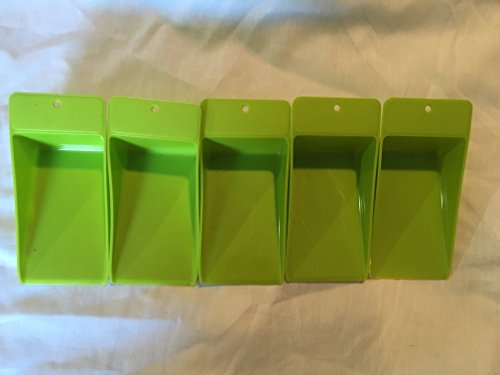 5 Tupperware Flat Scoop Canister Scoops Light Green