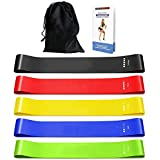 Resistance Bands, [Set of 5] TERSELY Skin-Friendly Resistance Fitness Exercise Loop Bands with 5 Different Resistance…