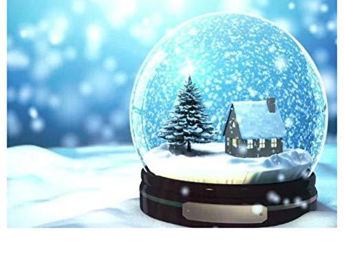Diamond Mosaic Christmas Snow Globe Diamond Painting Cross Stitch Diamond Embroidery Full Kit Patterns Rhinestones Arts]()