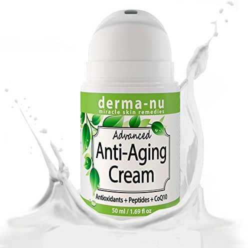 Anti-Aging Face Cream Natural - Anti Wrinkle Daily Moisturizer Enriched with Collagen Boosting Peptides, Hyaluronic Acid & Organic Aloe - Hydrating, Firming & Facial Skin Tightening - 50ml