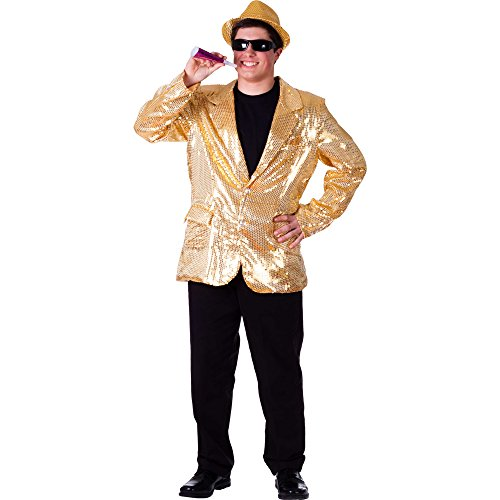 (Adult Gold Sequin Jacket - Size Extra)
