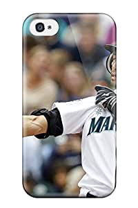 High Grade ChrisWilliamRoberson Flexible Tpu Case For Iphone 4/4s - Seattle Mariners