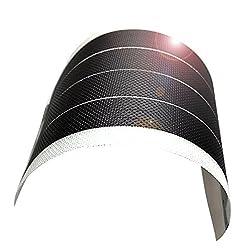 jiang Flexible Thin Film Solar Panel Module DIY 1W 6V Panel Rechargeable Battery, white