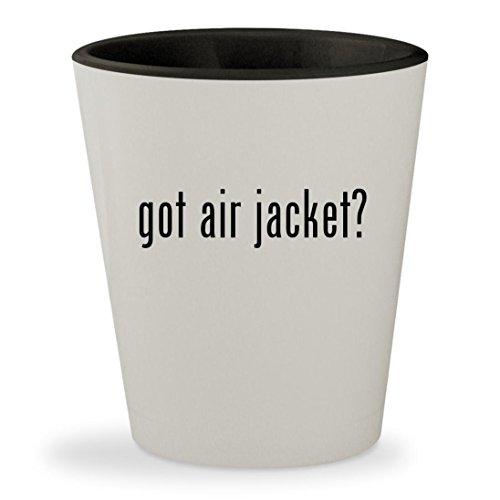 got air jacket? - White Outer & Black Inner Ceramic 1.5oz Shot Glass