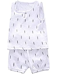 Kids Pajamas Sets,Jchen(TM) for 0-3 T Kids,Baby Kids Boys Girls Leaves Print Vest Tops+ Shorts Outfits