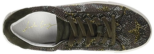 Lola Cruz 207z07bk, Women's Sneakers Green (Khaki)