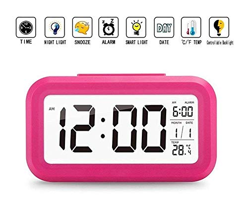 shree krishna Digital Smart Backlight Alarm Clock with Automatic Sensor,Date & Temperature,alarm clocks for bedroom,digital clock for home,digital clock with alarm,alarm clocks for students,digital clock